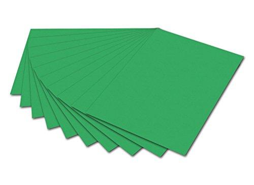 folia 6154 - Fotokarton Smaragdgrün, 50 x 70 cm, 300 g/qm, 10 Bogen - zum Basteln und kreativen Gestalten von Karten, Fensterbildern und für Scrapbooking
