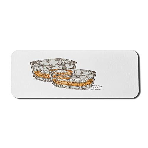 Ice Cube Computer Mouse Pad, handgezeichnet 2 Gläser Whisky Composition Sketch Style Glaswaren, Rechteck rutschfeste Gummi Mousepad große orange hellbraun Staub
