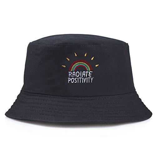 Lazz1on Sombrero Pescador Unisex Plegable Bucket Hat Al Aire Libre Visera Gorro para Mujer...