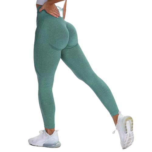 QTJY Pantalones de Yoga de Cintura Alta sin Costuras para Mujer, Polainas sin Costuras de Fitness para Gimnasio, Pantalones Deportivos para Correr al Aire Libre MS
