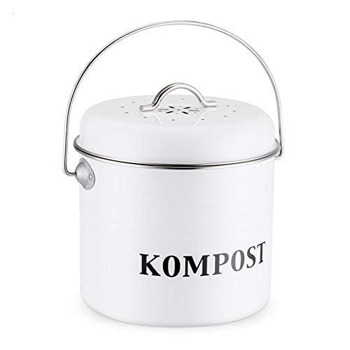 gouxia74534 5 Liter In-Home-Kompostbehälter Küchen Bio Mülleimer und Geruchsdichter Komposter Eimer mit 6er Pack Aktivkohlefilter - Biomülleimer Mülltonne - robuster Komposteimer Abfallbehälter