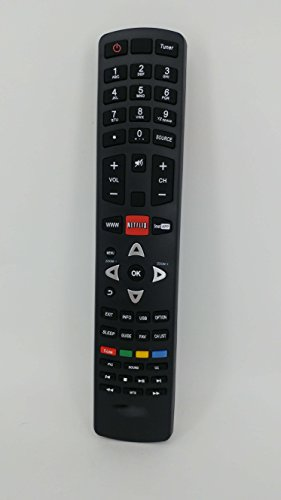 Best Price Rlsales Universal Remote Control Fit for TCL L32HDM12 L40FHDM12 LE40FHD5510 39S3600 LCD L...