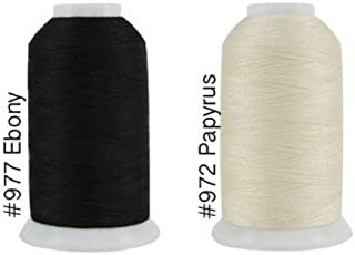 Super Threads King Tut #40/3 Ply Quilting Thread 2,000 per cone BUNDLE of 2 - Papyrus & Ebony (#972 + #977)