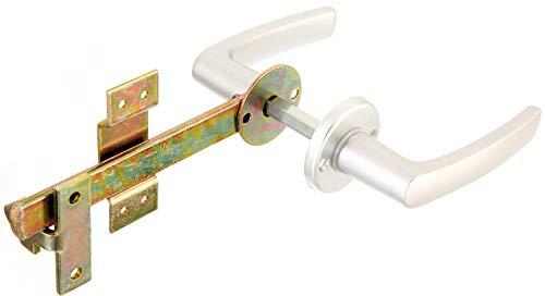 GAH-Alberts 213565 Flechtzaun-Einzeltorverschluss | Drücker und Rosette besteht aus Aluminium | galvanisch gelb verzinkt | Gesamtlänge 170 mm