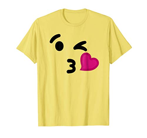 Blowing Kiss Emoji T-Shirt - Funny Halloween Costume Shirt