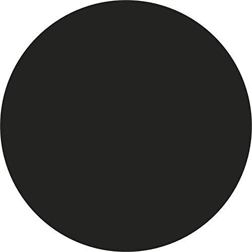 Bandeja de mesa laminada moldeada de 60 cm de diámetro, varios colores, 60 cm, negro laminado
