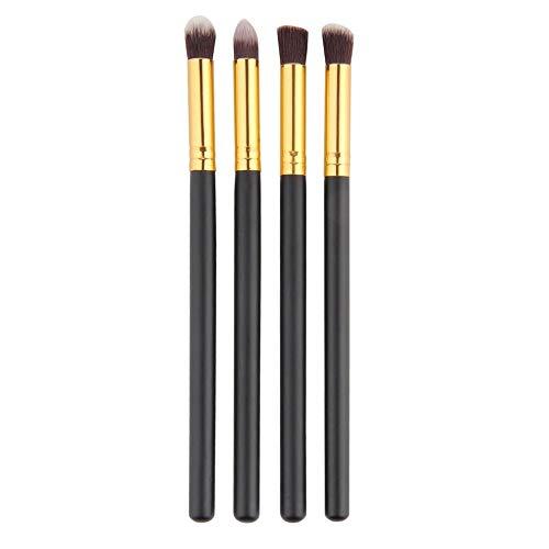 4pcs / set professionnel Maquillage des yeux Brosses Kit fard à paupières Fondation Mascara Blending Crayon outil Pinceau beauté cosmétiques Noir Matériel fiable