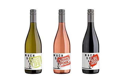 WINZERHOF STAHL Probierpaket NACHSCHLAG (3 x 0,75 l) Weißwein, Roséfarben, Rotwein, Cuveé, Trocken, Weinpaket, Deutscher Wein, Wein, Geschenk