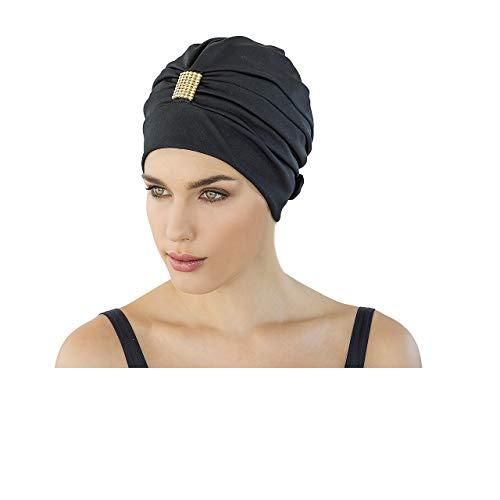 Fashy Damen Exkluisve Badehaube, schwarz, One Size