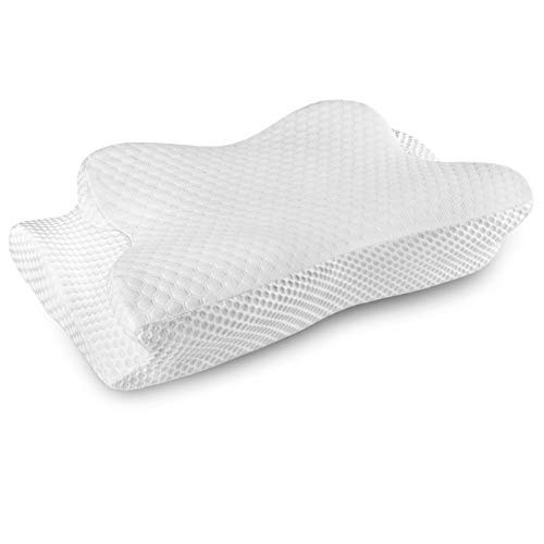 Coisum Cervical Pillow, Back Side Sleeper Pillow, Orthopedic Pillow for Neck Pain, Neck Pillows for Pain Relief Sleeping, Neck Support Pillows with a Washable Pillowcase, Contour Memory Foam Pillow