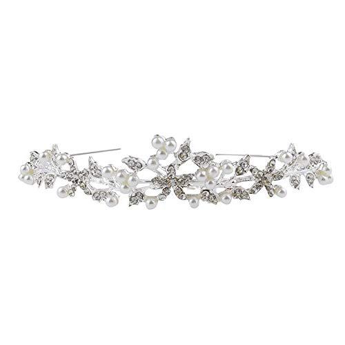 39,6 cm para dama de honor y flores Diadema para novia Yean dise/ño de hojas doradas