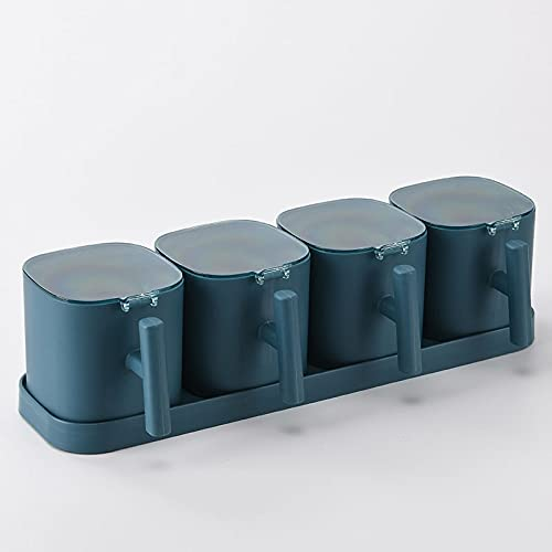 HMGANG Caja de condimento Combinación de Cocina Caja de condimentos Tanque de condimento Salero Saconador Sazonador Caja de Almacenamiento Conjunto Caja de condimento Caja de condimento Pot