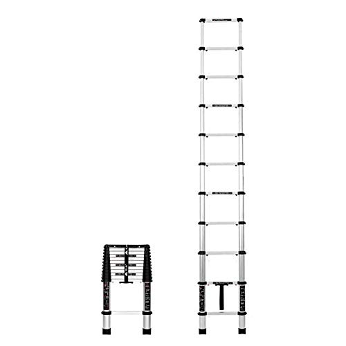 QMFYJ Ladders,Telescopic Ladder,Telescopic Tall Ladder Heavy-Duty Aluminum Extension Steps for Home Loft Top Non-Slip End Caps Portable Ladder Foldable Ladder Escape Ladder Load 150Kg,4.9M/16.08Ft,4.