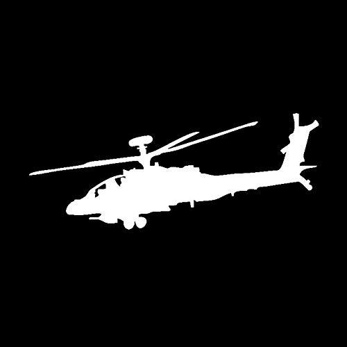 GQQ Autosticker, 16,7 cm x 6,3 cm, ongebruikelijke besturing, gigantische helikopter, vinyl, autostickers, delicate stickers, patroonaccessoires, 2 stuks, toont uw persoonlijkheid zilver