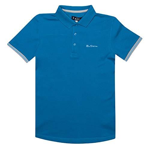 Ben Sherman Jungen Polohemd T-Shirt Imperial Blau Ages 7 Jahre bis zu 15 Jahre - Imperial Blau, 10-11 Jahre /140-146cm