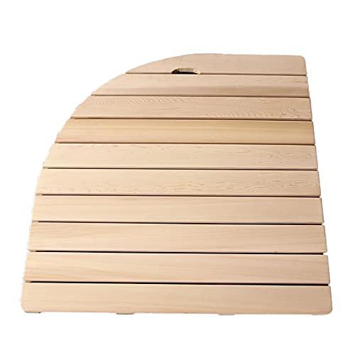 FTL&HONG Estera de Ducha de bambú Natural de bambú, baño de bambú Antideslizante Antideslizante, Estera de Madera de Tablero de Pato de llada de Madera para Exteriores al Aire Libre