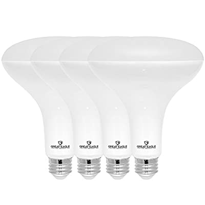 Great Eagle R40 or BR40 LED Bulb, 17W (100W Equivalent), 1400 Lumens, Brighter Upgrade, 2700K Warm White Color, for Recessed Can Use, Wide Flood Light, Dimmable, and UL Listed (Pack of 4)