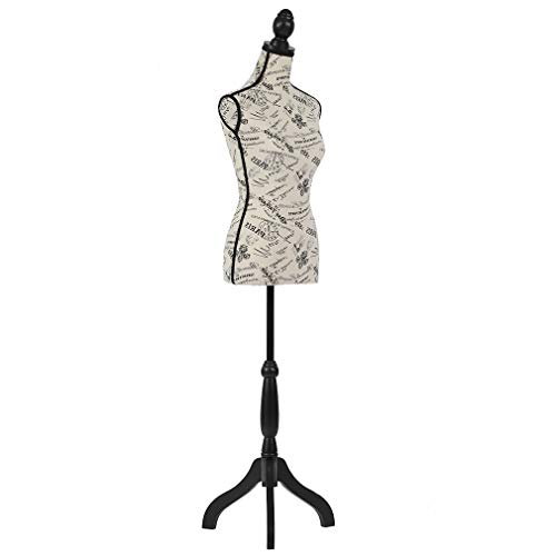 "Mannequin Torso Manikin Dress Form 60""-67""Height Adjustable Female Dress Model Display Torso Body Tripod Stand Clothing Forms"
