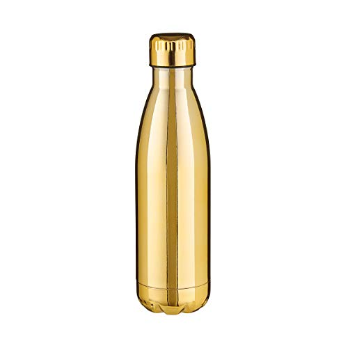 BUTLERS To Go Isolierflasche 500ml in Gold - Edelstahl Thermo Trinkflasche - Thermosflasche, Thermobecher, Trinkflasche