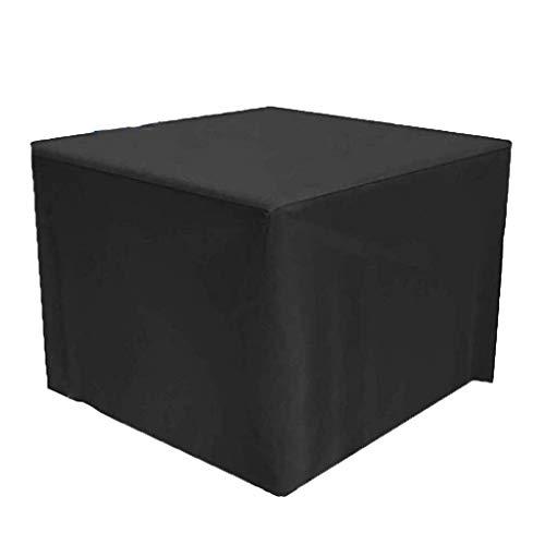 ZSML Funda Rectangular para Muebles, Color Negro, Resistente, 210D, de Tela Oxford, para Mesa de jardín, Resistente al Agua, para Juego de Cubos, Patio, Muebles de Exterior (tamaño: 270x180x89cm)