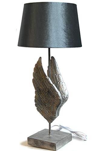 Bada Bing Hochwertige Tischleuchte Tischlampe Stehlampe Engelsflügel HBT Ca. 67 x 30 x 30 Cm Leuchte Lampe Steinoptik Extravagant Edel 44