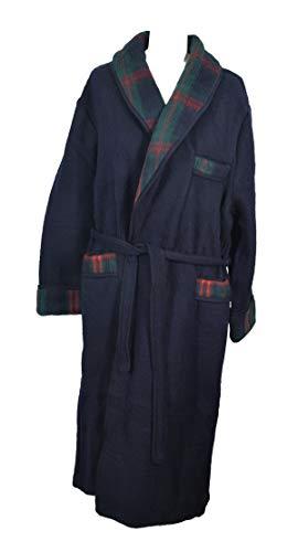 Val d'Arizes Laine des Pyrénées - Robe de chambre homme laine des Pyrénées marine - XXL