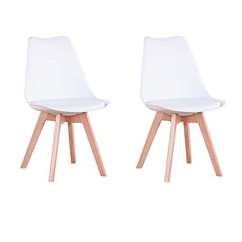 GrandCA Set di 4/6 sedie, sedia da pranzo, sedia in stile nordico, adatta per soggiorno, sala da...