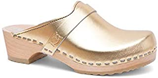 Sandgrens Swedish Low Heel Wooden Clog Mules for Women | Tokyo