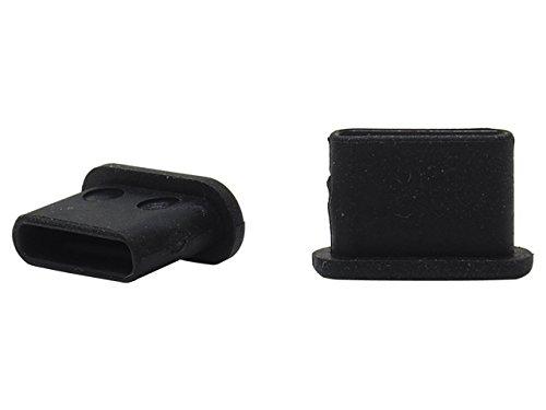 USB3.1Type-C 機器側コネクタ用キャップ (黒) つまみなし 6個/パック 適度な柔らかさ TPE素材 USB31CBCK-B0-6