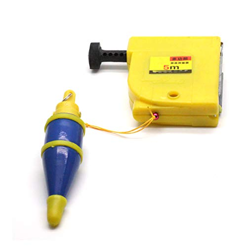 Autoly CF-5000 Magnetic 400g Plumb Bob Straight Level Setter Test Device 5 Meters Blue