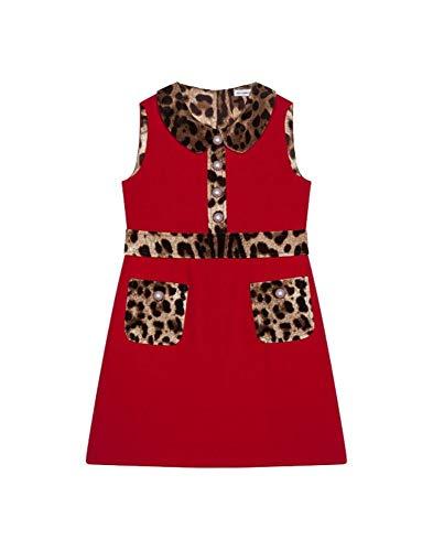 DOLCE E GABBANA Luxury Fashion Mädchen L51DS9G7TPQR2254 Rot Elastan Kleid | Herbst Winter 19