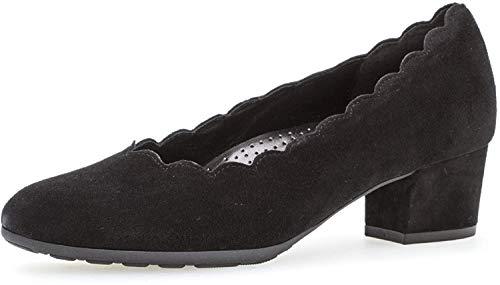 Gabor Damen Pumps, Frauen Klassische Pumps,Comfort-Mehrweite, Court-Shoe Business sommerschuh modisch sportlich bequem weiblich,schwarz,37 EU / 4 UK