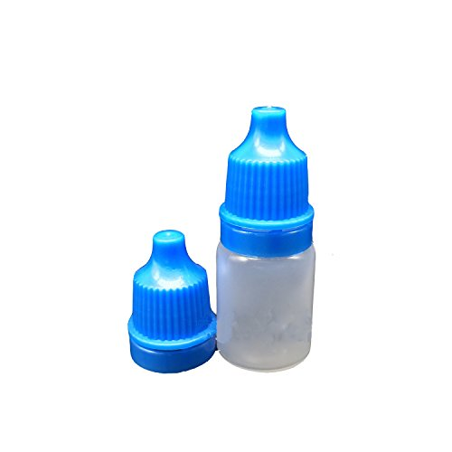 Ewandastore 50pcs Empty Eye Dropper Bottles 5ml Plastic Squeezable Dropper Bottles Eye Liquid Dropper Dropping Bottles(Blue Cap)