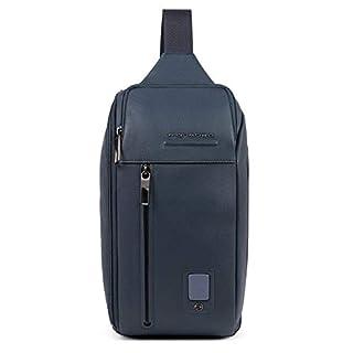 Piquadro Akron Sling Bag Ledertasche, Blau