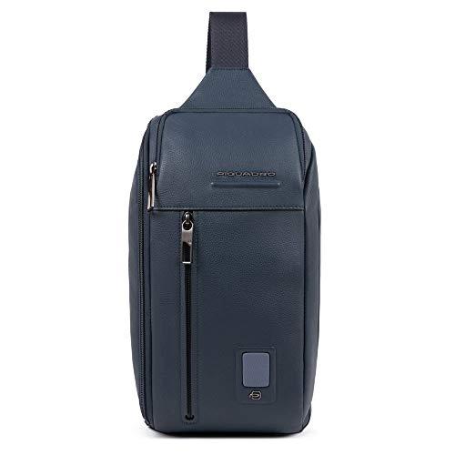 Piquadro Akron Sling Bag Blu Oltremare