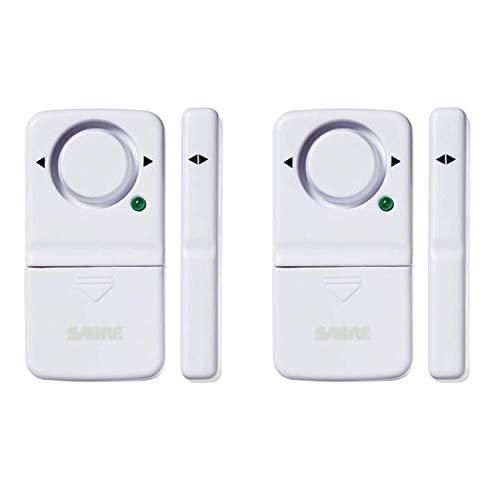 SABRE Wireless Home Security Door Window Burglar Alarm with LOUD 120 dB Siren - DIY EASY to Install