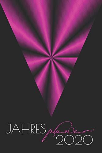 Jahresplaner: Artdeco Pink I Organizer & Kalender I ca. A5 I mit Tagesplaner & Adressbuch I ToDo I Vorsätze & Ziele I Motivation & Kreativität I Geburtstags Planer I Weihnachtsgeschenk