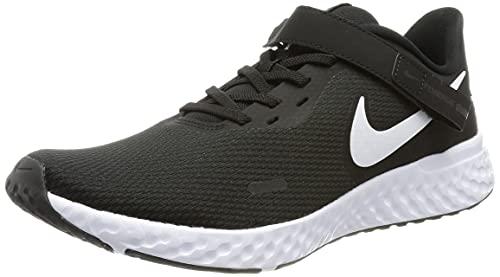 Nike Men's Revolution 5 FLYEASE Running Shoe, Black White Anthracite, 10.5