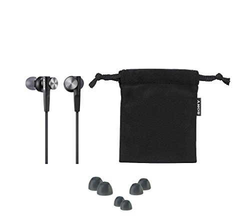 Sony Kopfhörer MDR-XB50APB In-Ohr-Headset-Kopfhörer (Extra Bass) schwarz & MDR-EX110LPB geschlossene In Ear Kopfhörer schwarz