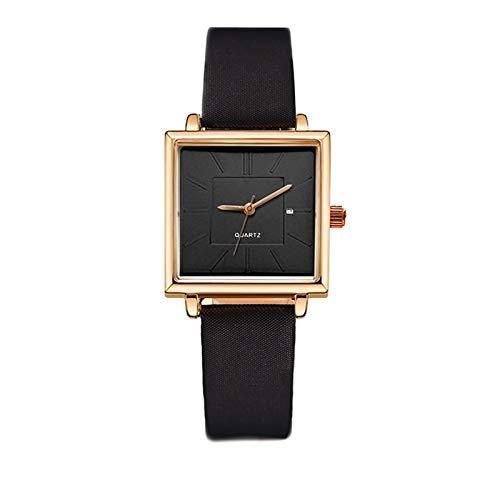 Relojes de la pulsera de la mujer Reloj de la forma cuadrada de la mujer de la mujer con la fechada Moda de las mujeres Vestido de las mujeres Reloj de pulsera Reloj de pulsera de lujo Reloj de pulser