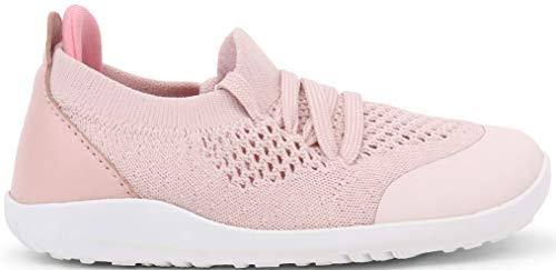 Bobux I-Walk Play Knit Trainer_Caminantes Babyschuhe für Sport mit Gummizug., rosa - Muschel - Größe: 23 EU