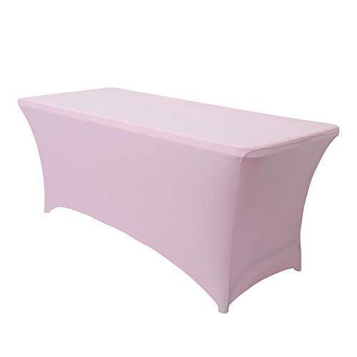 Obstal Stretch Spandex Table Cover for Standard Folding Tables - Universal Rectangular Fitt…