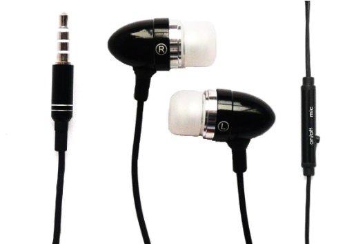 Emartbuy® Excelvan BT-1077/Excelvan BT-MT10/Excelvan BT-1009/Excelvan M-106M Tablet PC Schwarz in Ear Kopfhörer Headset mit Mikrofon