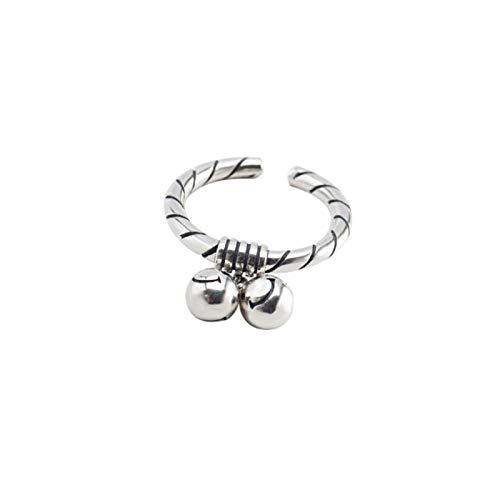XWYZY Offener Ring, 925er Sterlingsilber, Punk-Stil, Smiley-Gesicht, geometrische Öffnungsringe, Charm, Damen, Mädchen, kreativer Vintage-Stil, Party-Schmuck, Geschenke