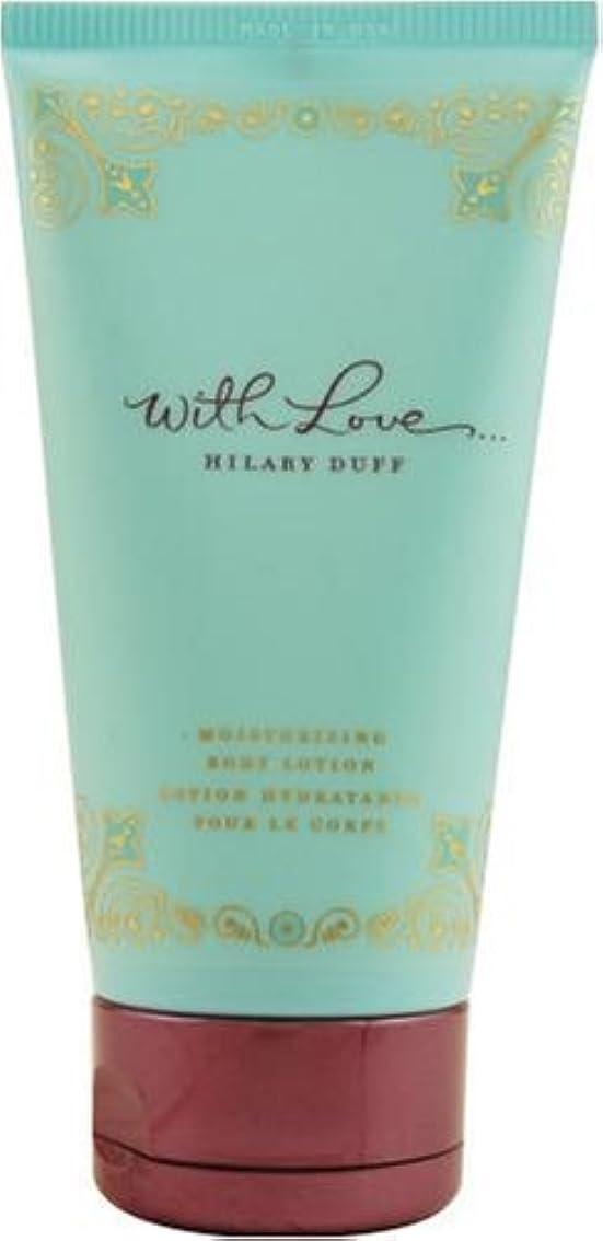 実際贅沢錫With Love (ウイズラブ) 5.0 oz (150ml) Body Lotion by Hilary Duff for Women