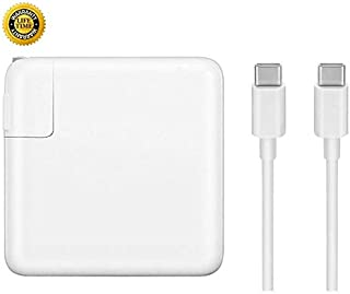 GSNOW 61W USB-C Power Adapter Charger - Compatible with 2016 2017 to Current MacBook Pro 13 Inch Laptop with Touch Bar Two and Four Thunderbolt 3 Ports MNF72LL/A A1706- with Type C Charge Cable