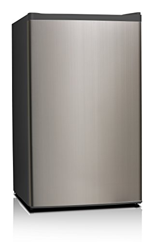 Midea WHS-121LSS1 Refrigerator, 3.3 Cubic Feet, Stainless Steel