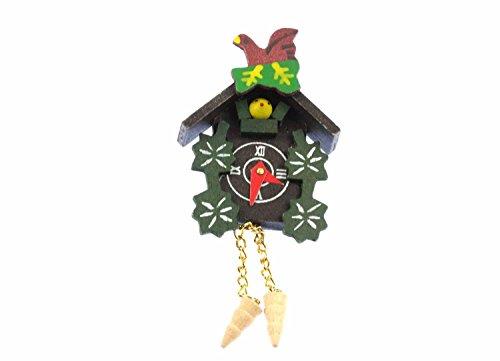 Miniblings Kuckucksuhr Brosche Uhr Wanduhr Schwarzwald Anstecker Oktoberfest - Handmade Modeschmuck I Anstecknadel Button Pins
