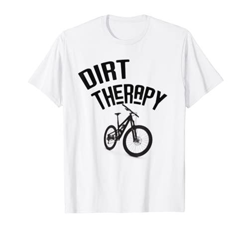 Dirt Therapy T-Shirt Funny MTB Mountain Bike Cycling Tee