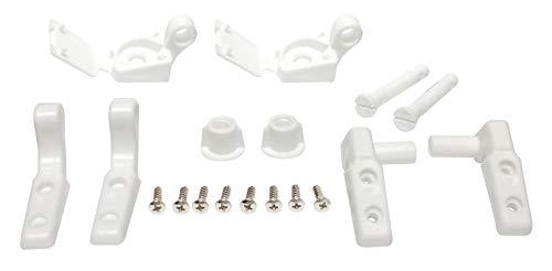 Plumb Pak PP835-34 Leaf Straight Universal Fit Toilet Seat Hinge, Plastic, 4